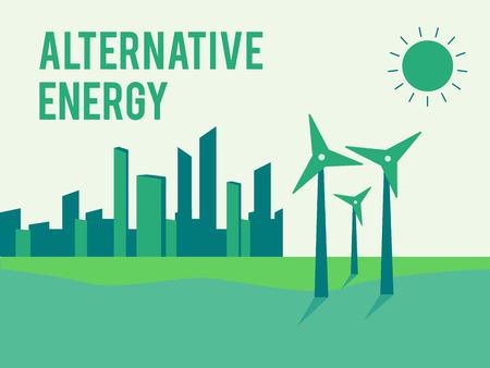 generators: Alternative energy, eco or green generators Illustration