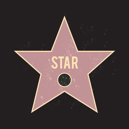 walk of fame: fame star vector Illustration