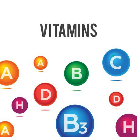minerals: Vitamins and minerals background vector Illustration