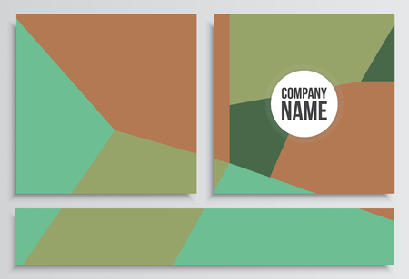 placards: Placards with Web Banner. Corporate identity template. Business stationery mock-up with logo. Branding design