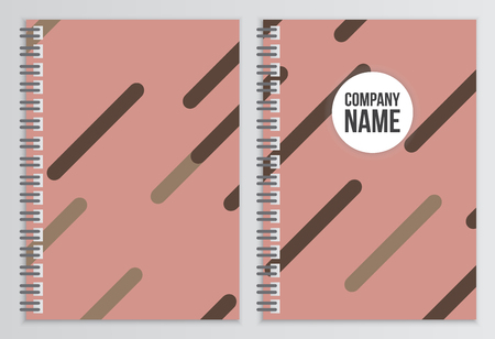 notebook cover: Notebook cover. Corporate identity template. Business stationery mock-up with logo. Branding design Illustration