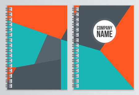 notebook design: Notebook cover. Corporate identity template. Business stationery mock-up with logo. Branding design Illustration