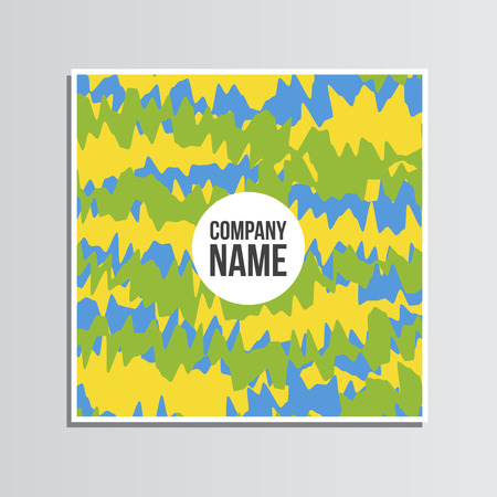 post card: Post card. Summer games. Colors of Brazil. Corporate identity template. Business stationery mock-up with logo. Branding design