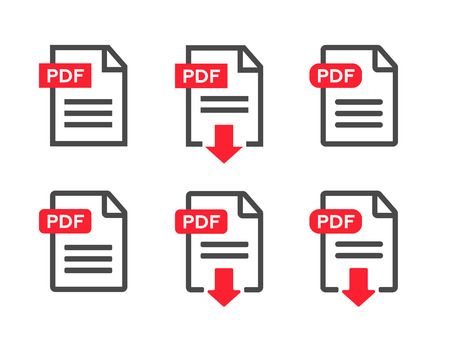format: File download icon. Document text, symbol web format information