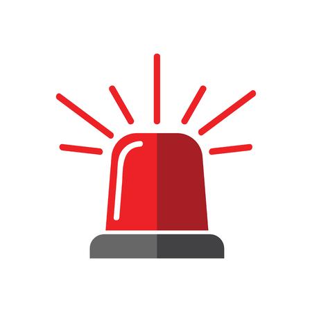 Single design element demonstrating red flasher siren