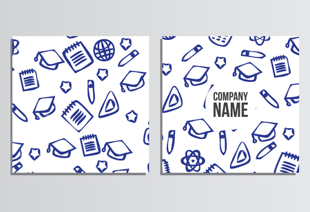 placards: Placards, Banner. Back to school background. Branding template with back to school pattern