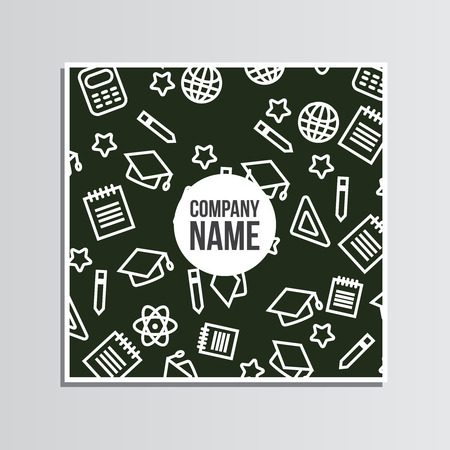 post card: Post card with back to school pattern. Back to school branding background