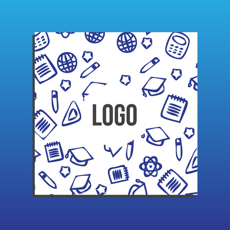 placards: Placards or Banner with back to school pattern. Back to school branding background Illustration