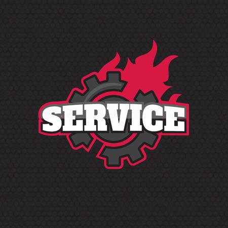 auto washing: Car service Label, Emblem vector