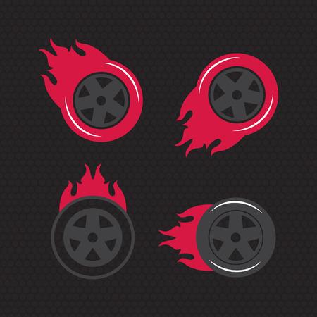 blaze: Hot wheel, Racing flat labels set. Blaze and flash