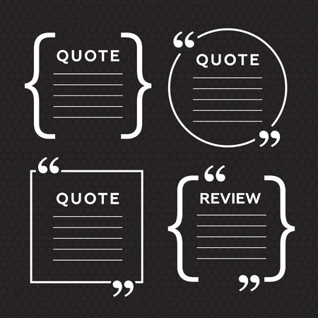 Mention: Quote blank templates. Quote bubble. Empty template. Circle business card template