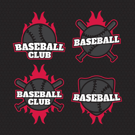 Set Of Sport Baseball Badge Templates Label Stock Vector