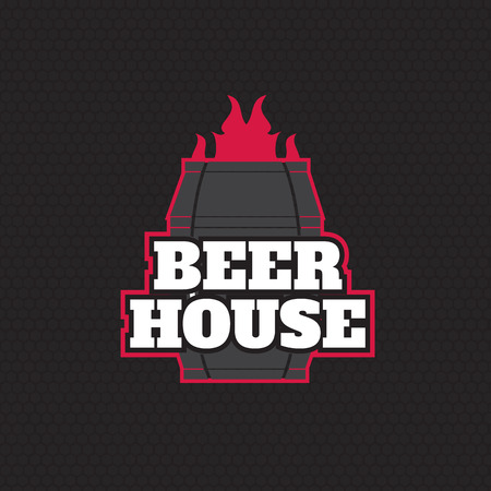 brew house: Brew House Vintage  For Beer House, Brewing Company Illustration