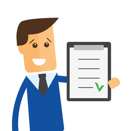 manager: Businessman or manager. Illustration of business plan