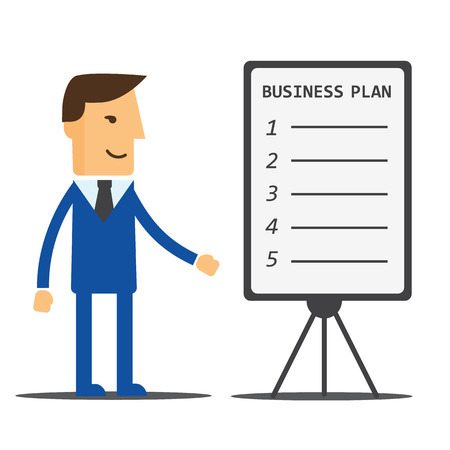 manager: Businessman, manager shows a business plan
