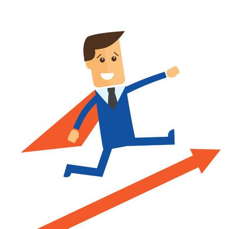 Businessman, manager Vector illustration Illustration