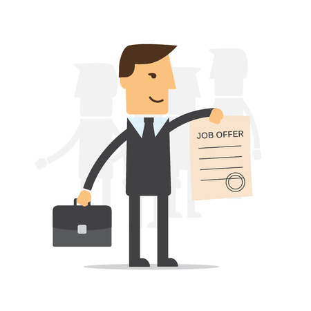 manager: Manager, employee holds a job offer Illustration
