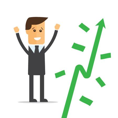 cash crop: Businessman and money tree vector