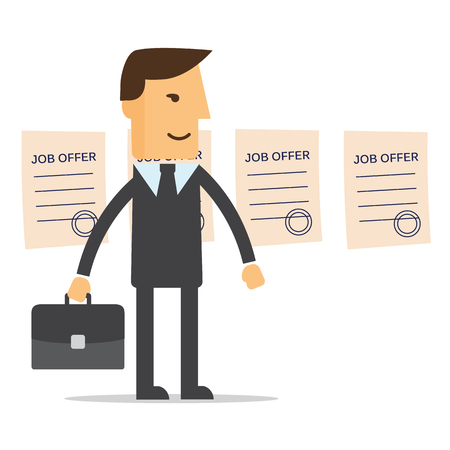 job offers: Manager job offers chooses vector