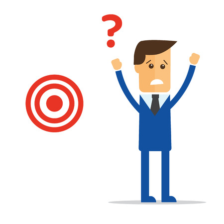 inaccurate: Businessman concept find target vector