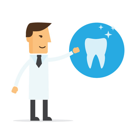 Dentist, a doctor and tooth vector