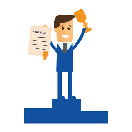 manager: Successful manager or businessman vector Illustration
