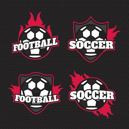 collegiate: Set of soccer football badge  design templates. Sport team  design