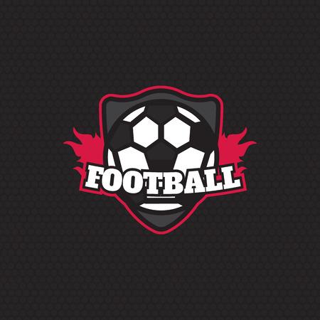 collegiate: Soccer Football Badge  Design Template