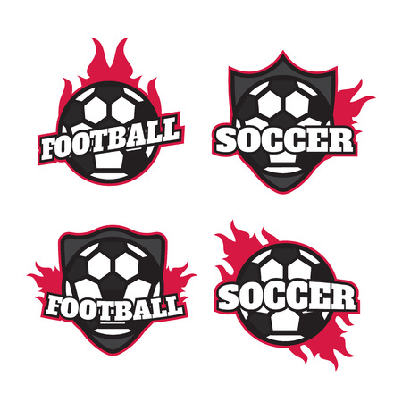 collegiate: Set of soccer football badge  design templates. Sport team   design Illustration