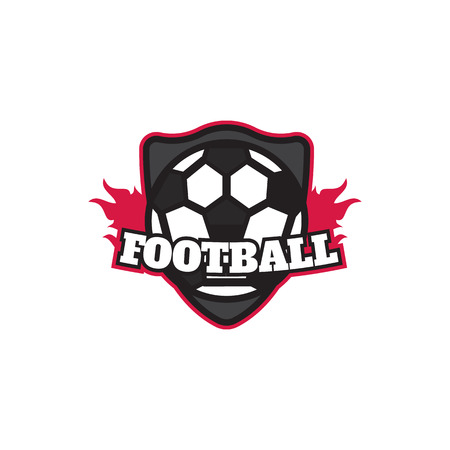collegiate: Soccer Football Badge Design Template Illustration