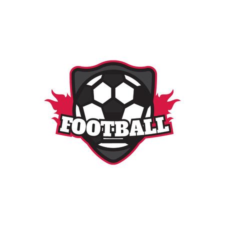 collegiate: Soccer Football Badge Design Template Illustration