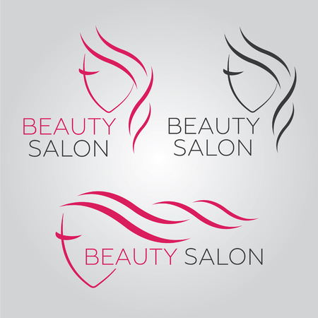 Schönheitsvektorschablone für Friseursalon, Schönheitssalon, kosmetische Verfahren