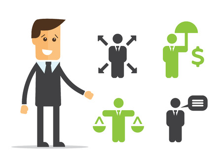 flexible business: Business Policies Icons vector illustration flat style