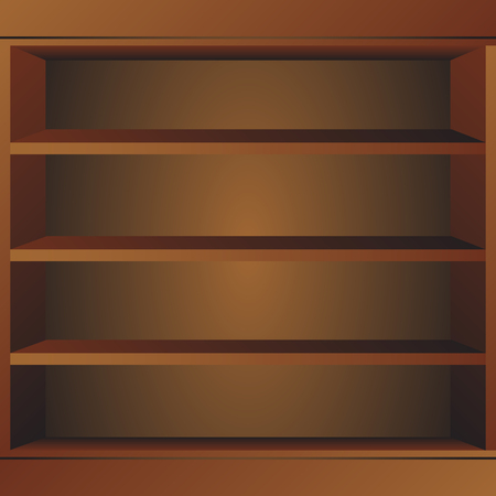 ibook: Wooden book shelf. Book shelf vector illustraton