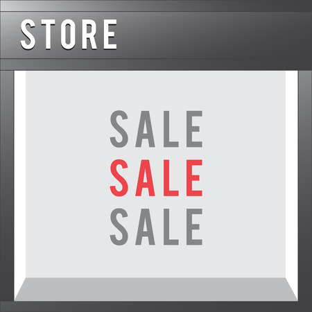 forepart: Shop Front vector store illustration flat style Illustration