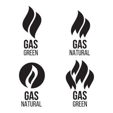 green fuel: Gas industry. Energy industry green fuel Illustration