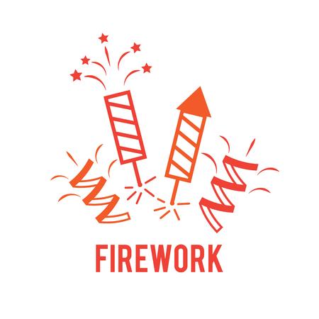 Firework line design illustration