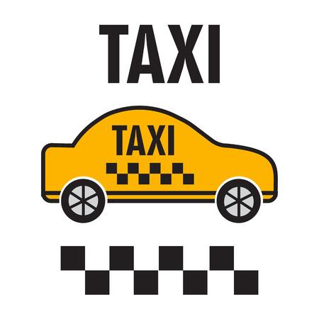 yellow car: Taxicab transport, yellow car poster illustration Illustration