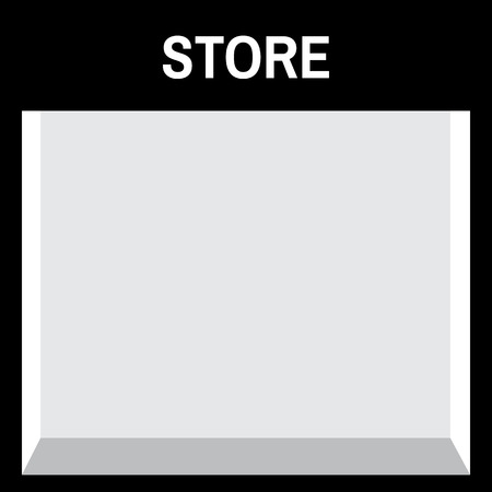 store front: Shop front or store front view vector illustration. Store front mock up Illustration