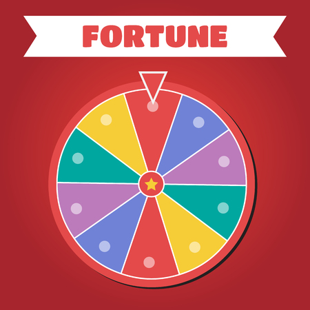 Wheel of fortune vector illustration. Wheel of fortune