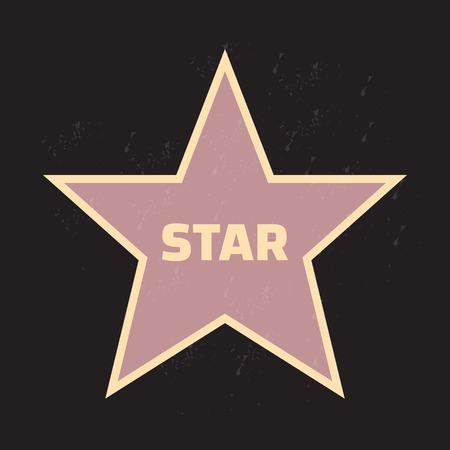 Star award vector illustratie voor beroemde mensen