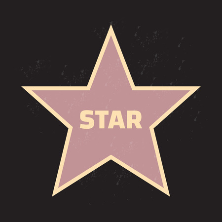 famous star: Star award vector illustration for famous people Illustration