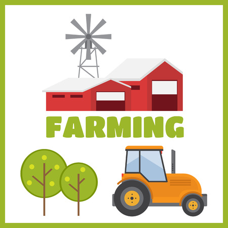agribusiness: Agriculture and Farming. Agribusiness. Rural landscape vector