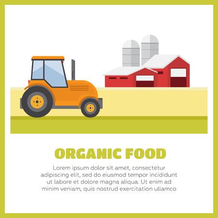 tillage: Productos orgánicos. Agricultura y Ganadería. Agronegocios Paisaje rural Vectores