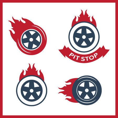 blaze: Racing flat labels set. Blaze and flash, auto transport