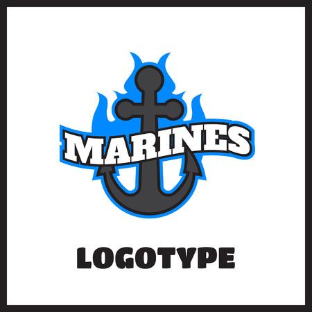 単純な黒と白いヨット クラブのロゴのベクトル