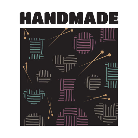 stitching: Handmade workshop cross stitching sewing and knitting vector