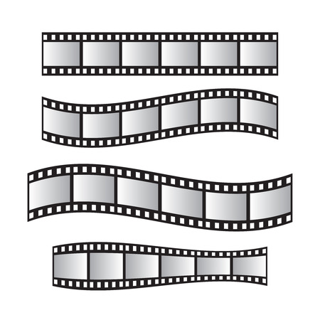 Film roll , film 35mm, slide film frame set. Film roll vector