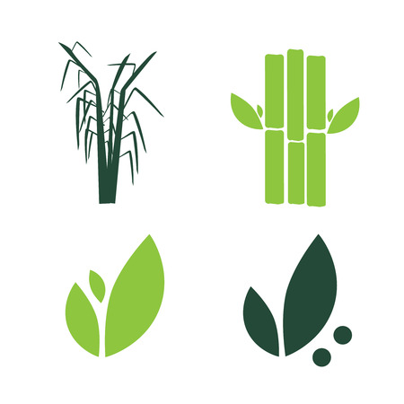 Sugar cane flat icons set illustration vector. Sugar cane vector Illustration