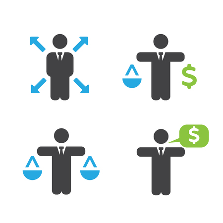flexible business: Business policies icons. Business vector icons set